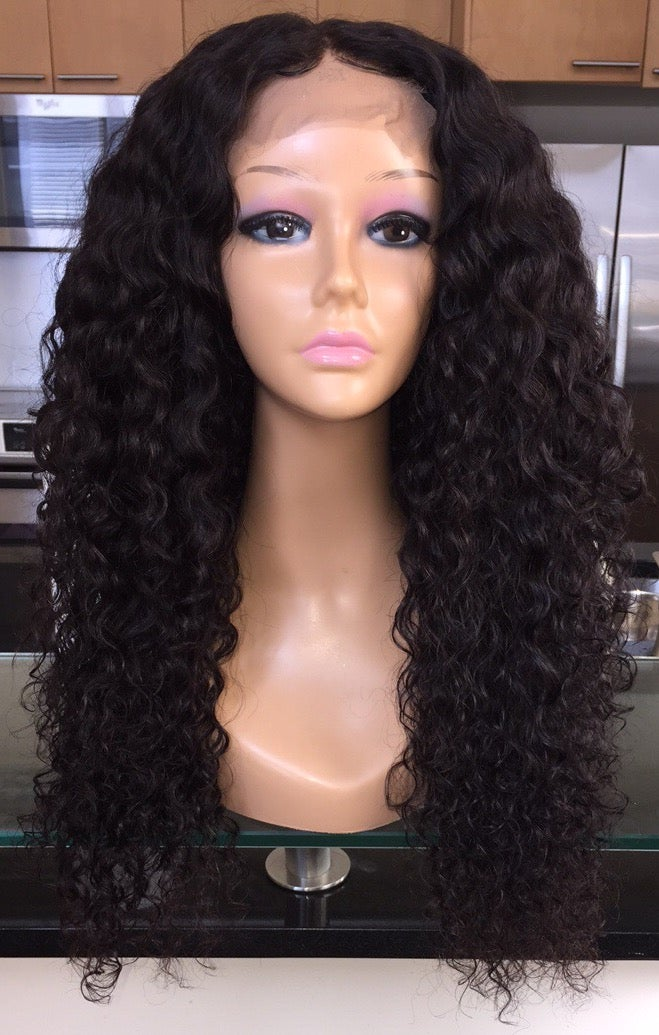 """Image of Indian Wavy/Curly 24"""" Custom Lace Closure Wig!"""