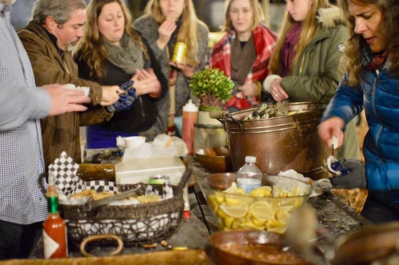Image of Holiday Oyster Roast and Pizza Party