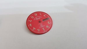 Image of WEST END ARABIC NUMERAL GENTS WATCH DIALS.NEW (RED OR BLACK)NEW OLD STOCK.