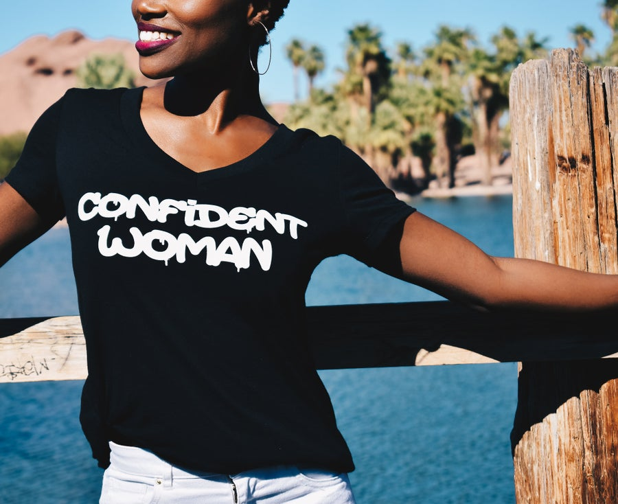 Image of Confident Woman (Graffiti Tee)