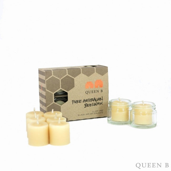 Image of Queen B Jam Jar Tealight Candles
