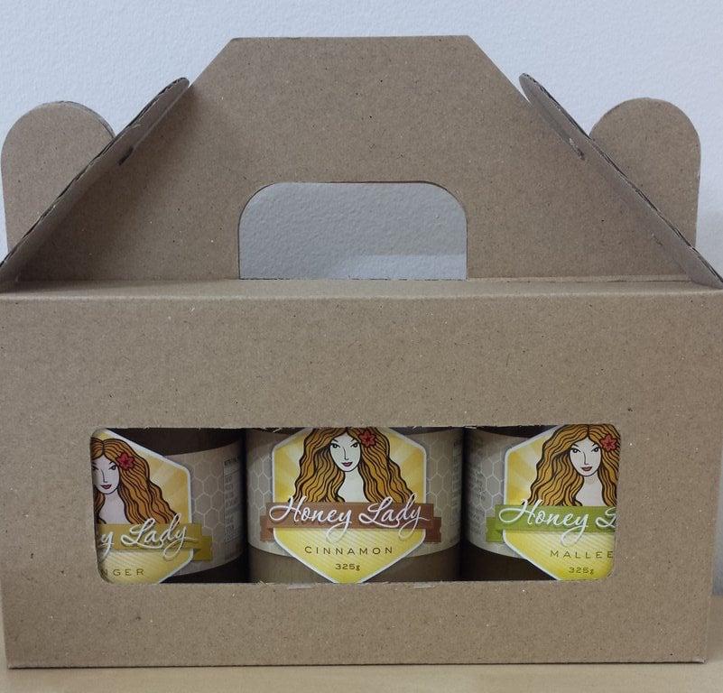 Image of Gift Pack - 3 x 325g Honeys (2 Plain, 1 Spiced)