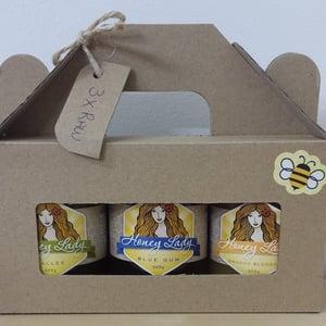 Image of Gift Pack - 3 x 325g Honey Lady Plain Raw Honey