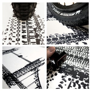 Image of Tyre Tracks series - New York, Paris, London & Beijing (SOLD OUT)
