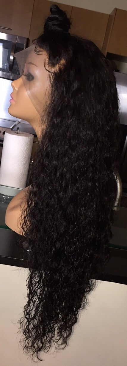 "Image of Cambodian Natural Wave 28"" Custom Frontal Wig! (Super Full)"