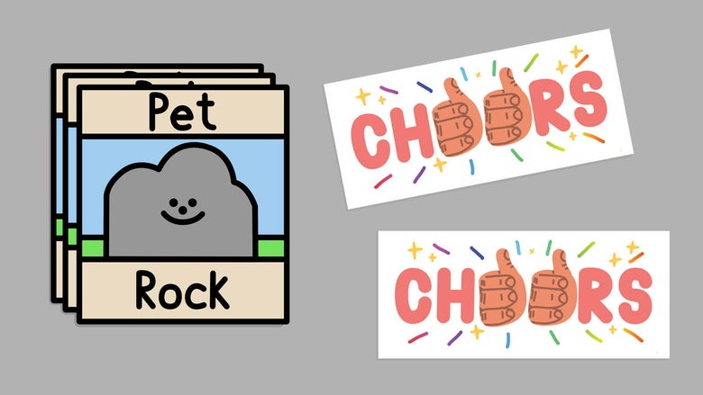 Image of Sticker Pack! Set of two stickers (1 of each)