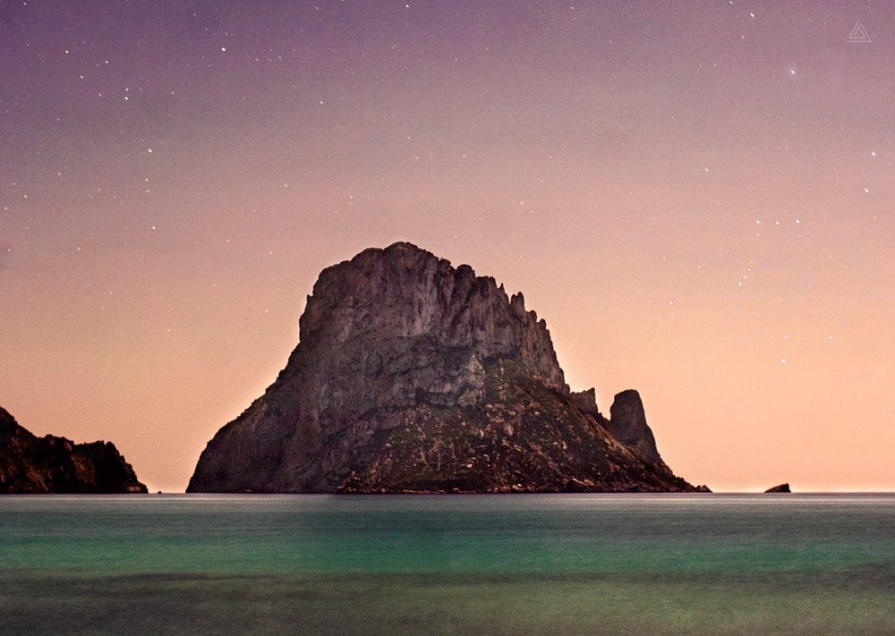 Image of Es Vedra in Orion, Ibiza HD photo print 75x50cm limited edition nr 3 of 15