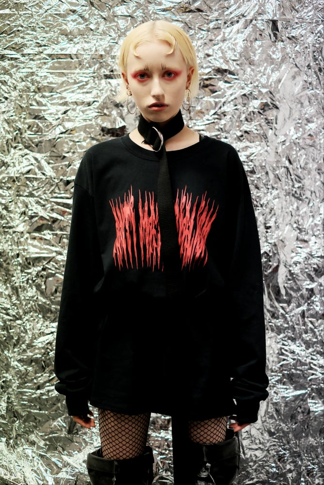 Image of ANTI MATERIALISM BLACK LONG SLEEVE