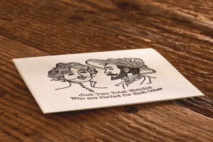 """Image of Total Weirdos Letterpress Card (A2: 5.5 x 4.25"""")"""
