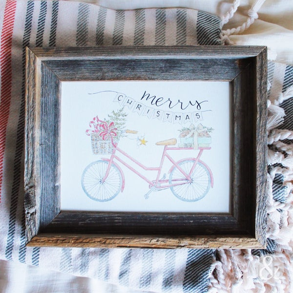 Image of Christmas Bike - Print