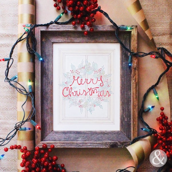 Image of Christmas Wreath - Print