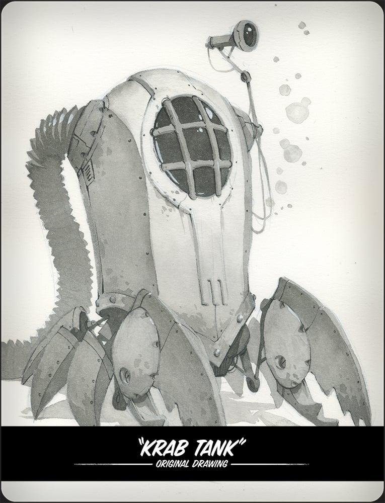 Image of Krab Tank Original Illustration