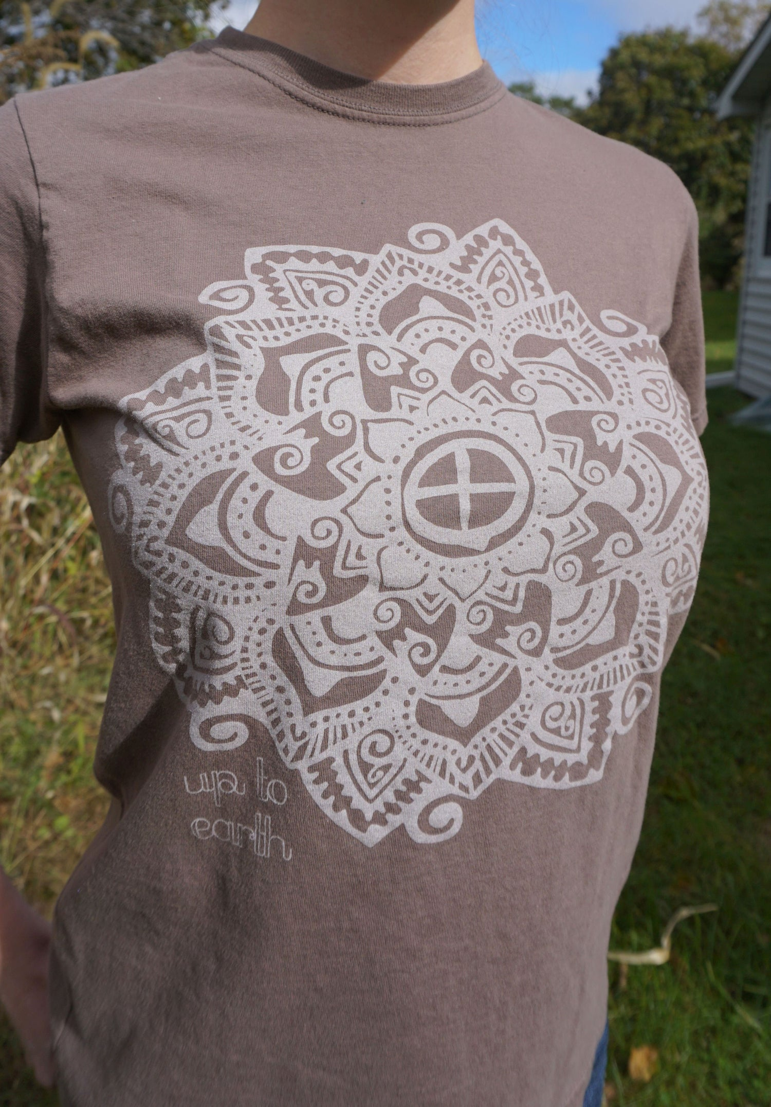 Image of Up To Earth Organic Flower Tee [Meteorite]