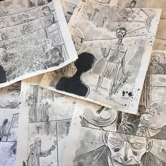 Image of WORMWOOD GOES TO WASHINGTON #1 ORIGINAL ART PAGES