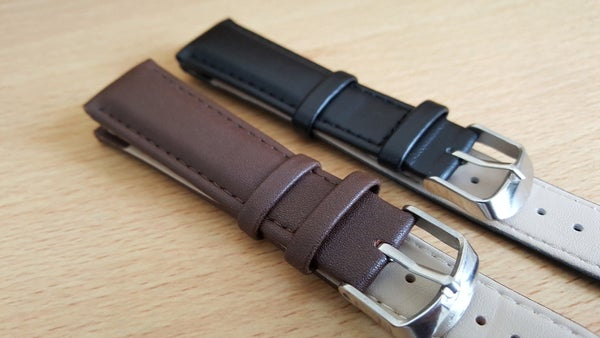 Image of BEAUTIFUL TOP QUALITY LEATHER GENTS WATCH STRAPS,2 COLORS.18MM,20MM,PLAIN