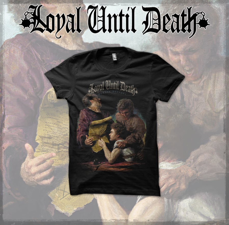 "Image of ""REMAIN DEFIANT"" Album Art T-shirt"
