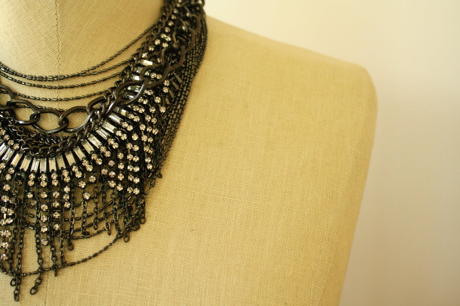 Image of Gunmetal Glitz Statement Necklace