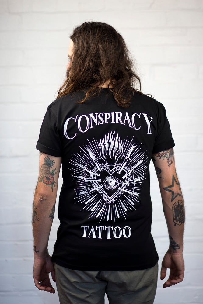 Image of Conspiracy Heart Tee (Black)
