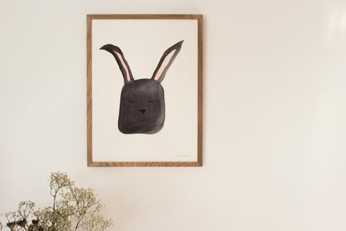 Image of Original akvarel, kanin