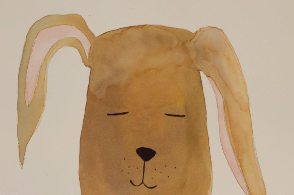 Image of Original akvaral, hund | (30x40 cm)