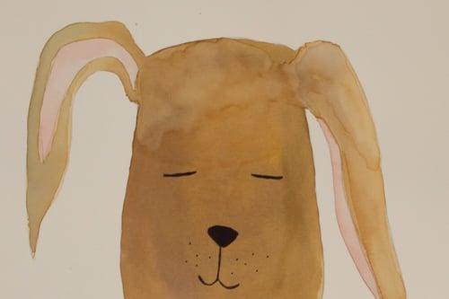 Image of Original akvarel, hund