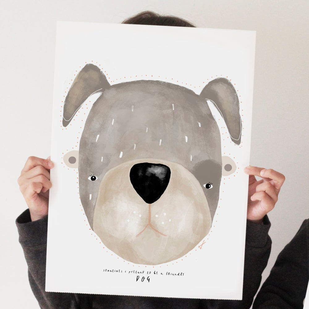 Image of FRIENDLY DOG ILLUSTRATION