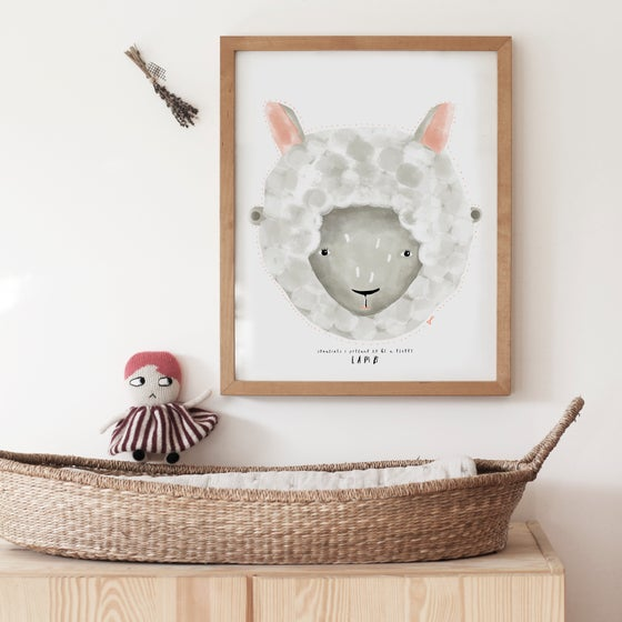 Image of BABY LAMB ILLUSTRATION