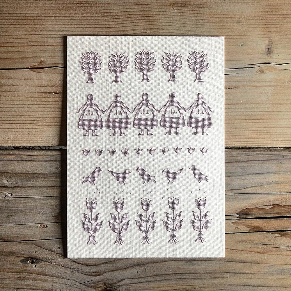 Image of Garden Girls Sampler PDF Pattern