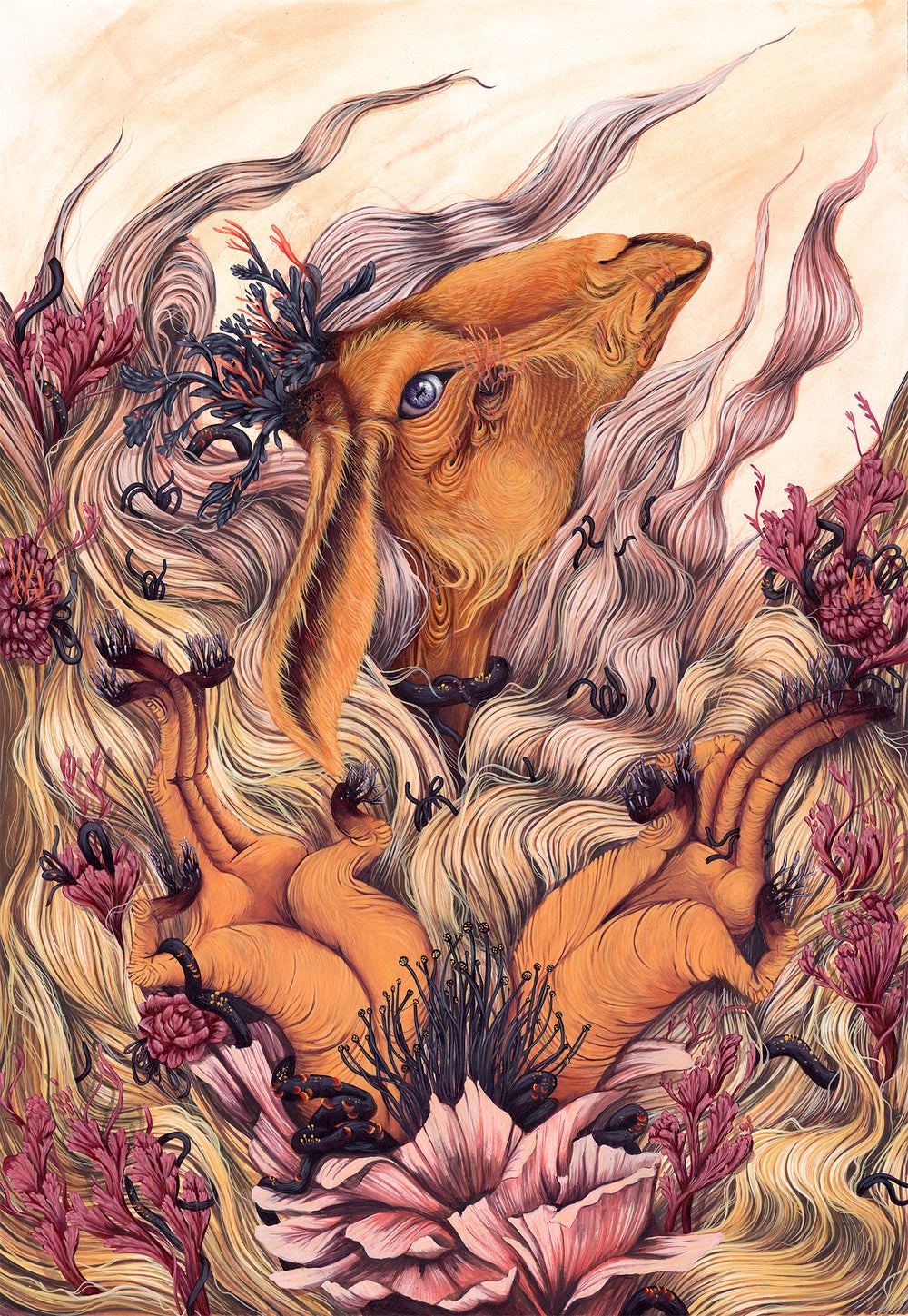 Image of ORANGE BLOOM // LIMITED EDITION GICLEE PRINT