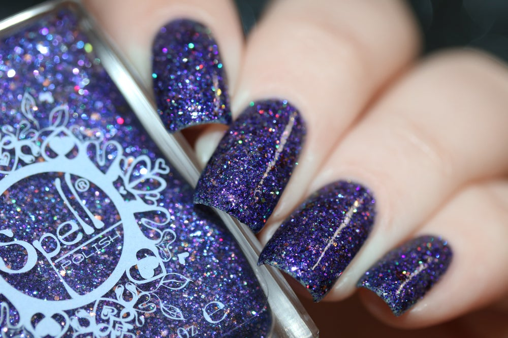 Image of ~Manther~ purple jelly w/multichrome flakes, microglitters and opal glitters!