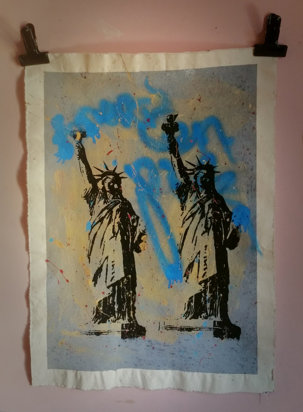 Image of Statue Of Liberty. American Pie. Original silkscreen.
