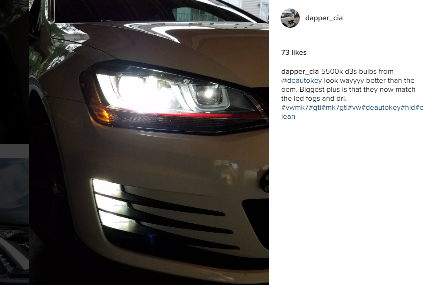 Image of New D1S / D2S / D3S Xenon Bulbs - Bright White - No errors - Fits: Many Volkswagen & Audi Models