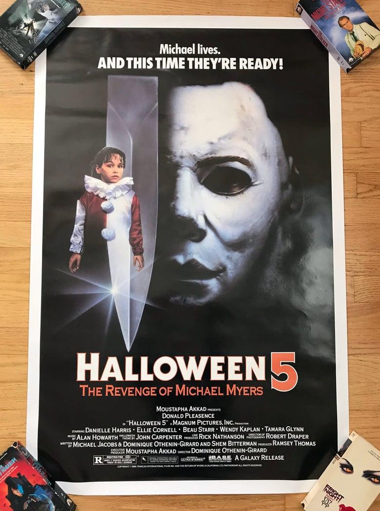 Image of 1989 HALLOWEEN 5: THE REVENGE OF MICHAEL MYERS Original U.S. One Sheet Movie Poster