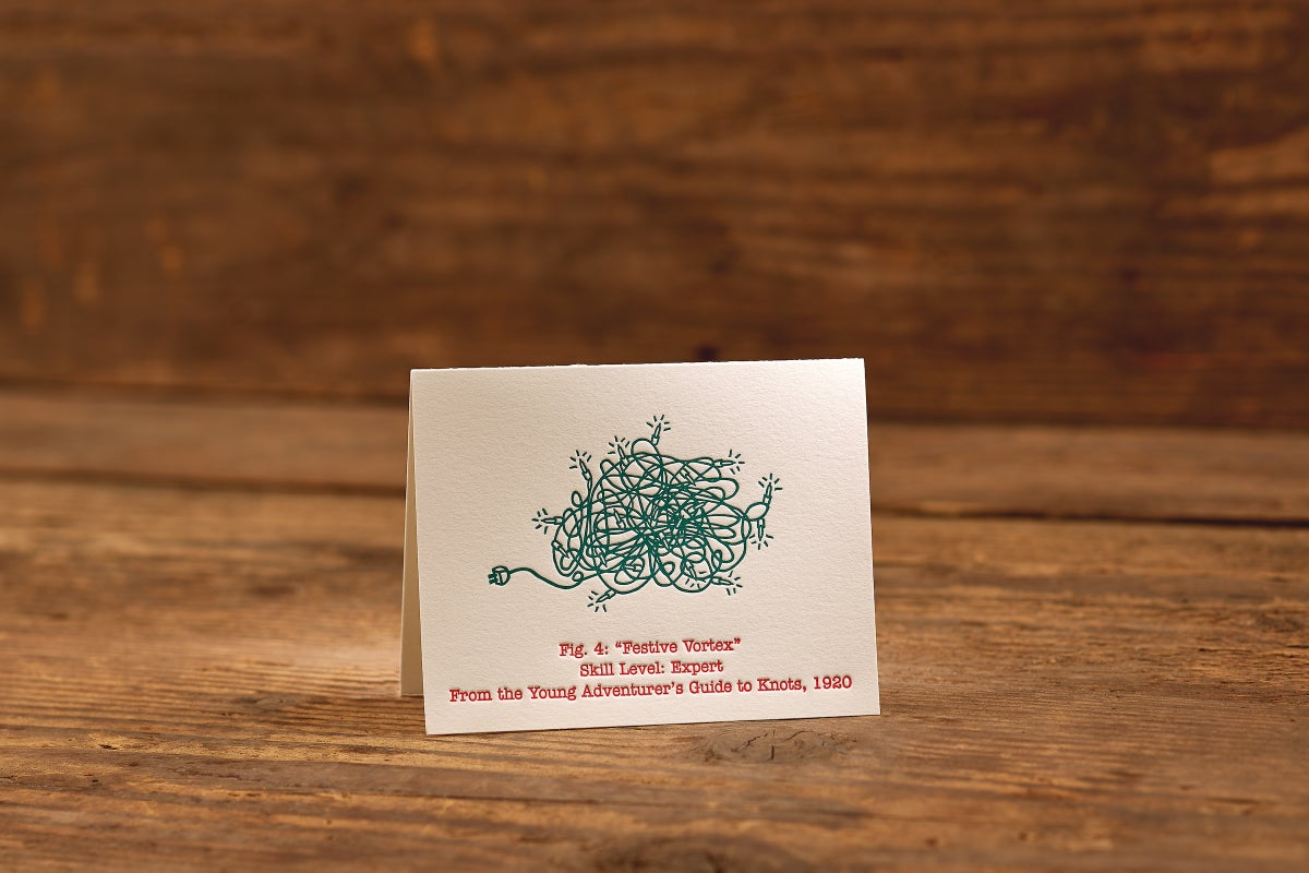 "Image of Festive Vortex Letterpress Card (A2: 5.5 x 4.25"")"