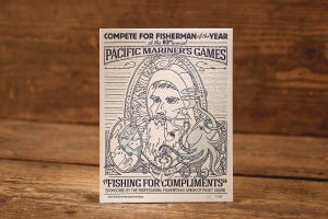 """Image of Fishing for Compliments - Limited Edition Letterpress Print (8.5 x 11"""")"""