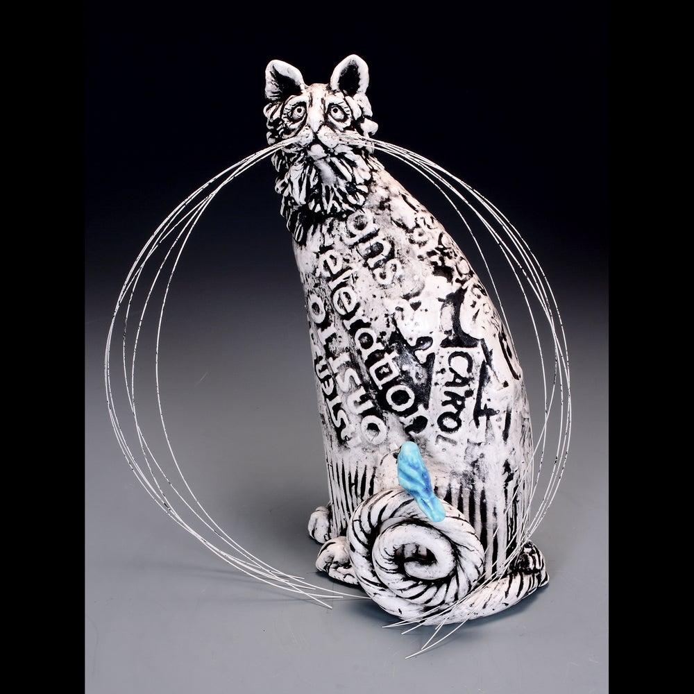 Image of Ceramic Cat Sculpture - Homeless Hanna