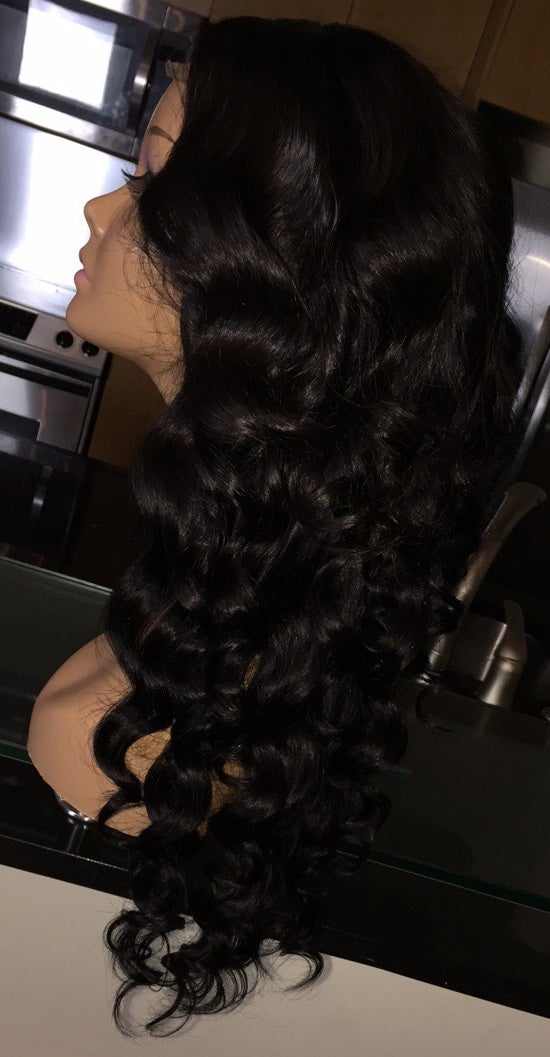 "Image of Cambodian Natural Wave 20"" Custom Lace Closure Wig!"
