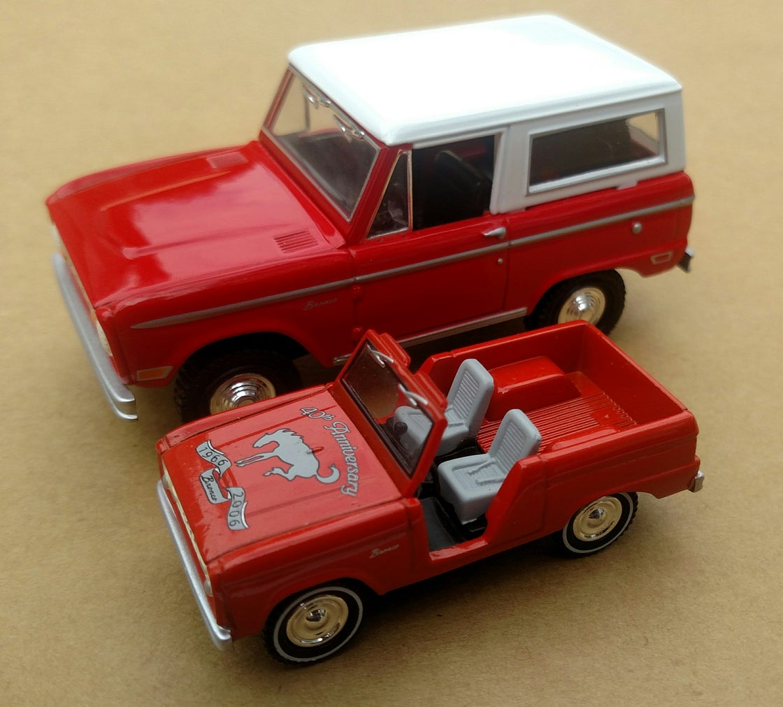 Image of Red Ford 100th Anniversary Edition Matchbox Collectibles Bronco
