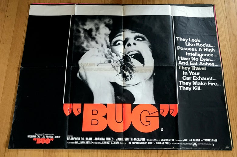 Image of 1975 BUG Original British Quad Movie Poster