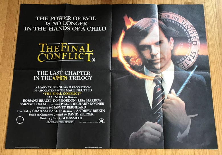 Image of 1981 THE FINAL CONFLICT: OMEN III Original British Quad Movie Poster