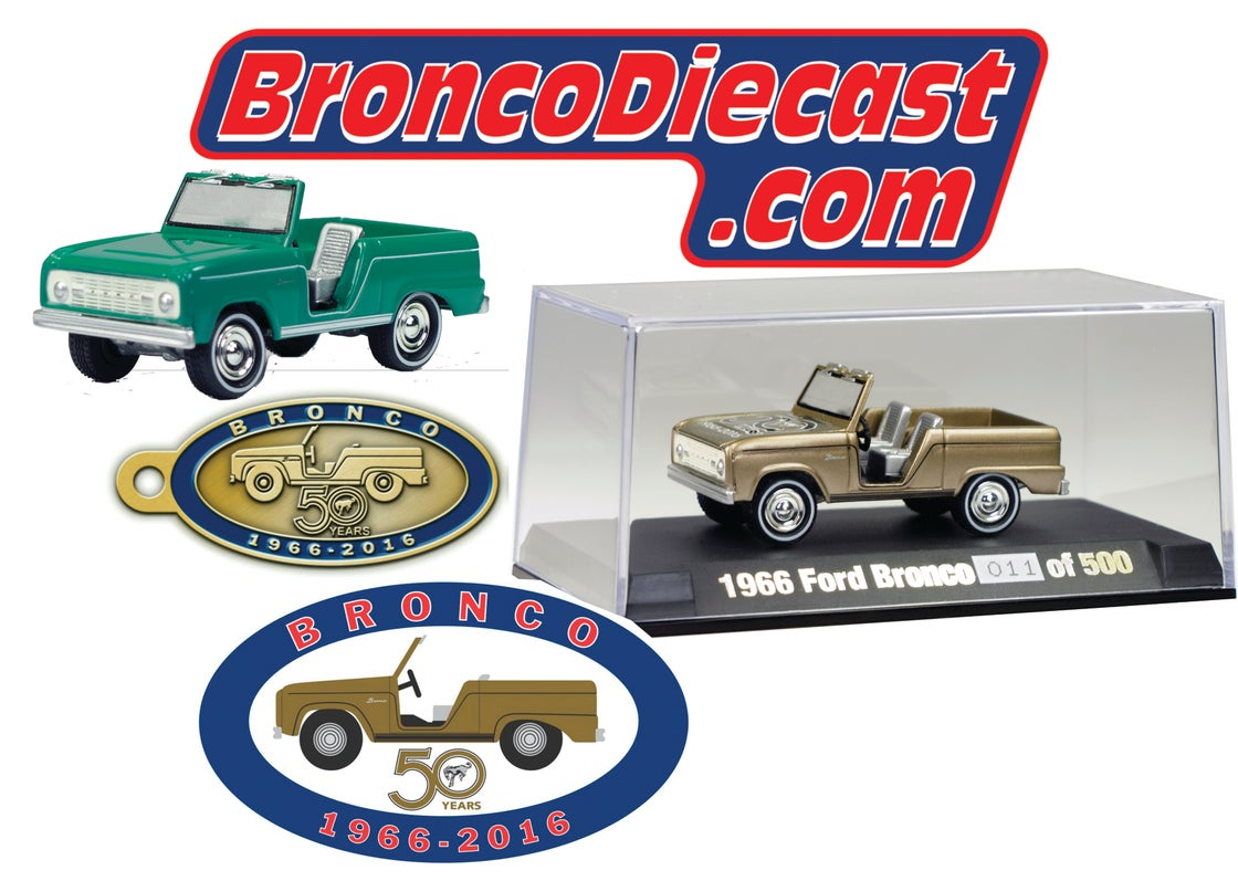 Image of Johnny Lightning Bronco 50th Anniversary 4 Piece Collectors Set