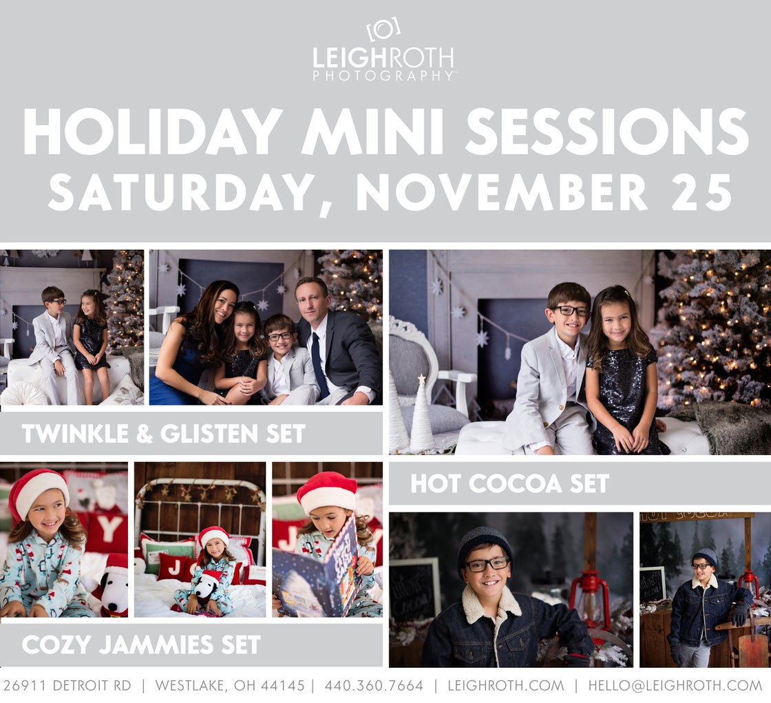 Image of 2017 Holiday Mini Sessions - NOVEMBER 25