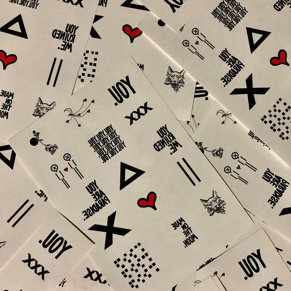 Image of TEMPORARY TATTOOS FOR YOU.