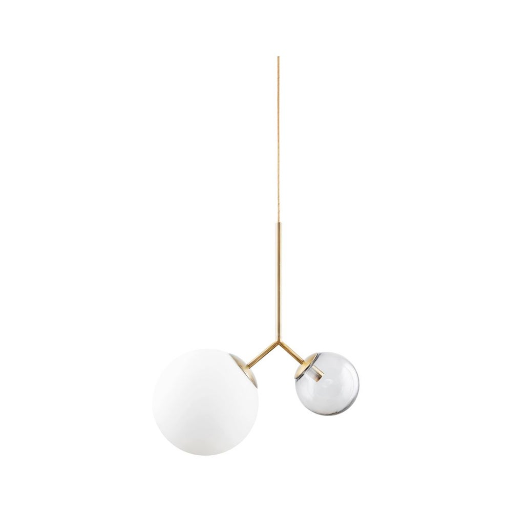 Image of Double globe pendant light