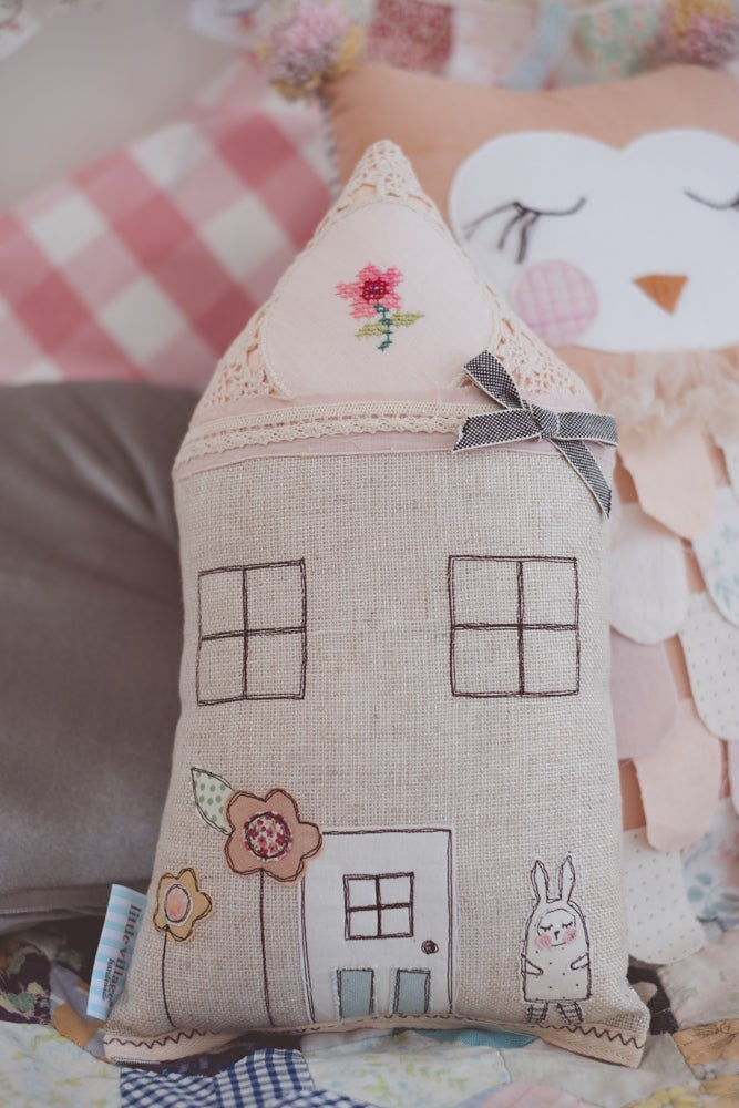 Image of Petite vintage bunny cushion