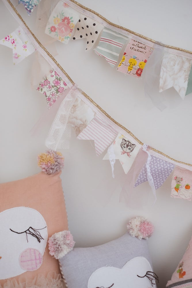 Image of Sweet fabric flag garlands