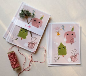 Image of Vinter Postcard - Pink