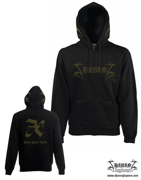 "Image of Shining ""X - Varg Utan Flock"" Hooded sweatshirt with zipper"