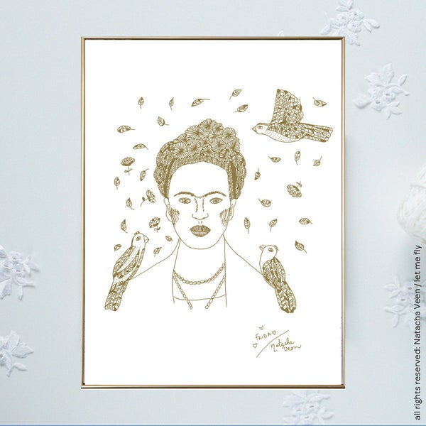 Image of Gold *Frida*18x24 cm