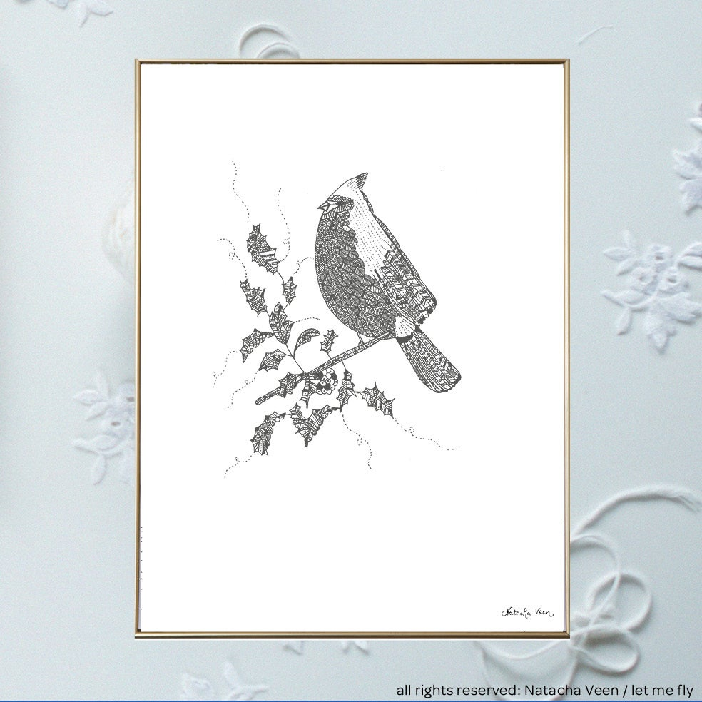 Image of Winter bird_A3